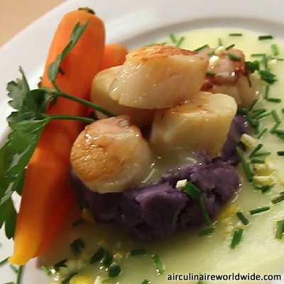 sea scallops purple peruvians