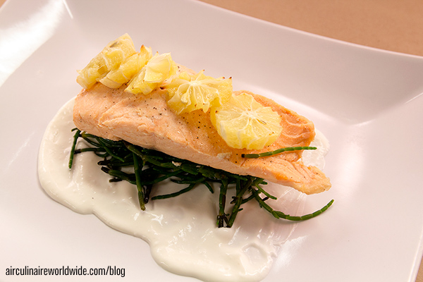 London poached salmon
