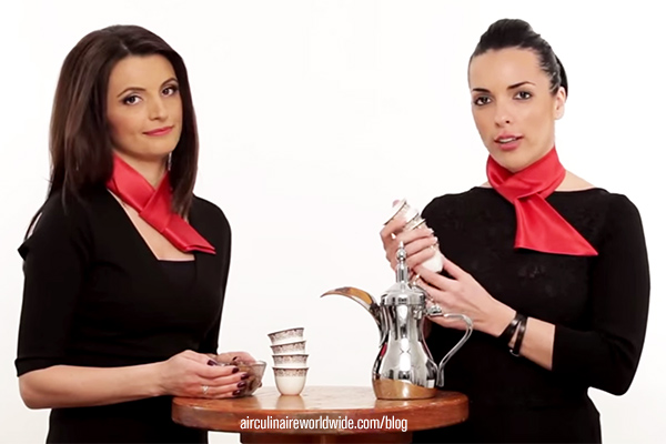 Arabic Coffee Service Etiquette Corporate Flight Attendant