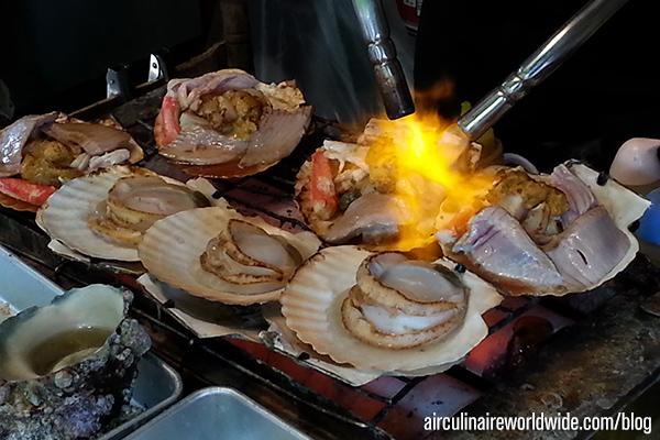 Inflight Catering Recipe Tokyo scallops
