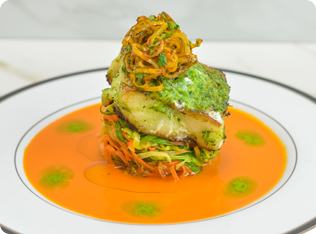Herb-Crusted Peruvian Sea Bass