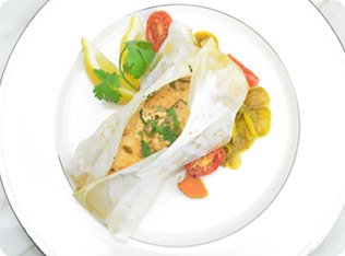 Salmon en Papillote with Berbere Butter