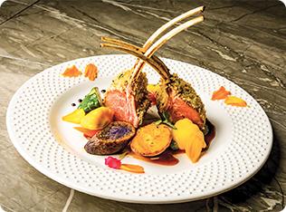 Herb-crusted Dijon Lamb