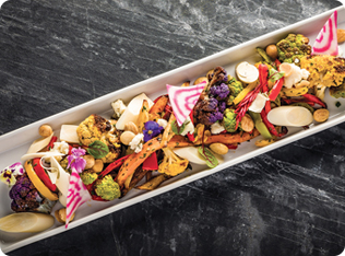 Roasted Tri-Color Veggie Salad